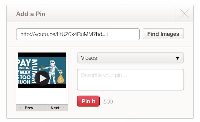 Pin a Video